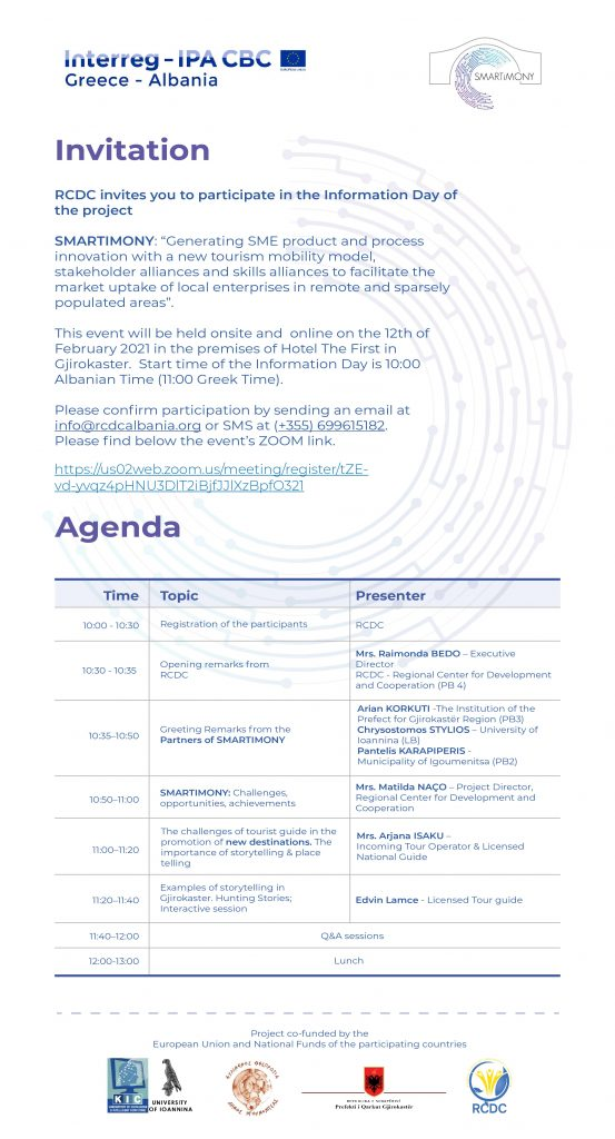 Invitation of PB4-RCDC for the Info Day